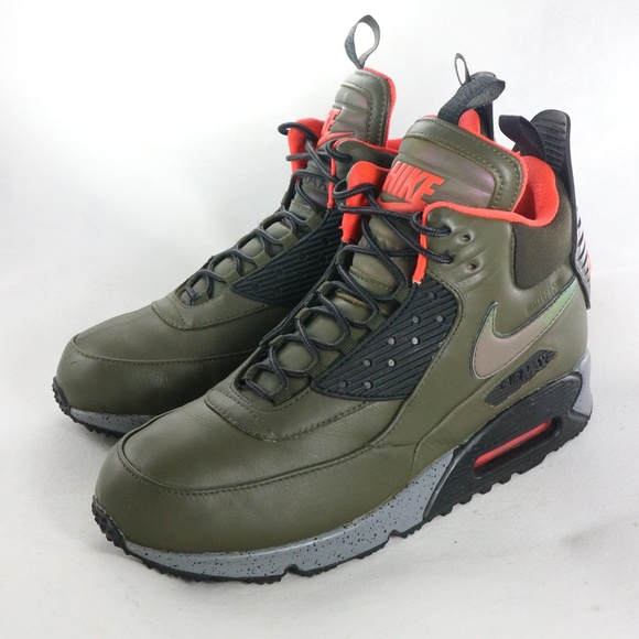 Nike Air Max 90 Sneakerboot Winter Suede All Black 684714 016 Men's Running Boots Shoes 684714 016